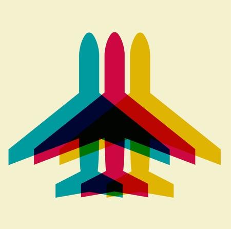 vliegtuig symbool Stock Illustratie
