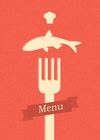 restaurant menu retro poster Stock Vector - 12715567