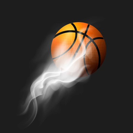 Basketball Fire Ball Vector