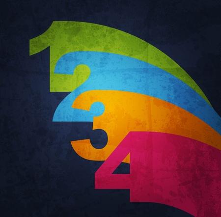 artistic designed: Paper number background