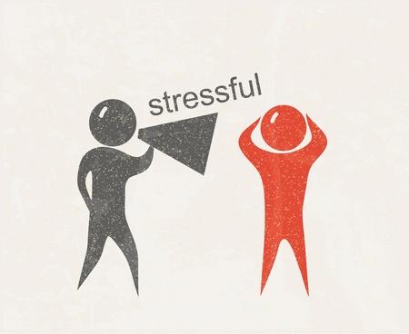 stressful: Stressful  Retro poster