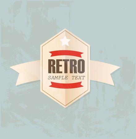 Retro label Vectores