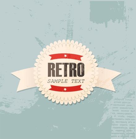 Retro label  イラスト・ベクター素材