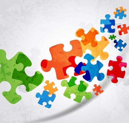 abstract puzzle shape colorful vector design Illusztráció