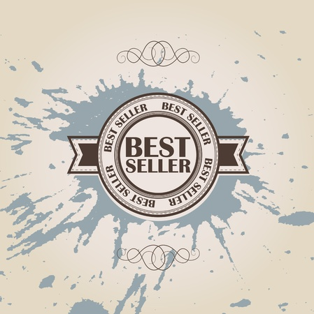 Best seller  Retro vintage styled design Vector