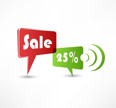 Sale concept speech bubbles Vector