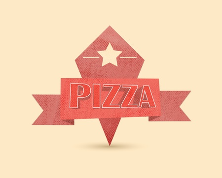 pizza vintage label Vector