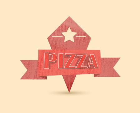 pizza vintage label Vector