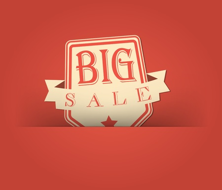 Big sale with retro vintage styled design Иллюстрация