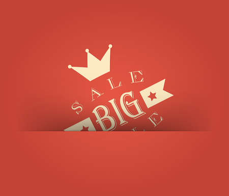 Big sale with retro vintage styled design Stock Vector - 13496139