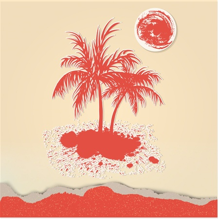beach party: Palm trees