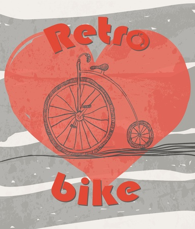 old retro bicycle grunge background