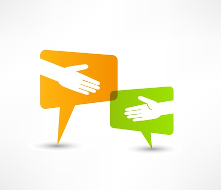 solidarity: hand shake Illustration