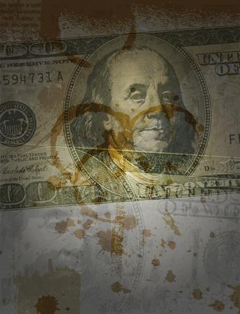 worthless: Dollars collage  Illustration