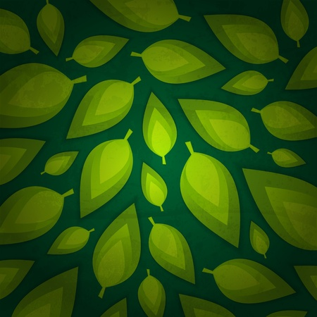 fresh green leaves design Vector