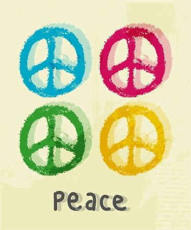 평화 기호 그림