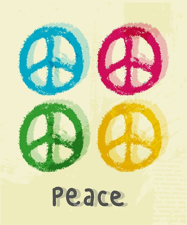peace and love: illustration of peace sign