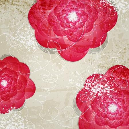 Abstract Invitation vintage floral background Banco de Imagens - 13478366