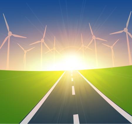 Turbines Éoliennes Paysage Banque d'images - 13478346