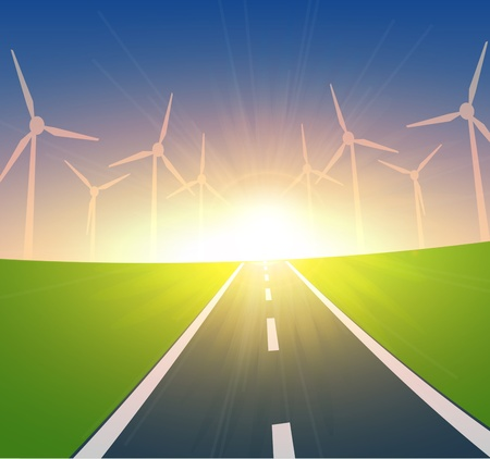 Wind Turbines Landscape 版權商用圖片 - 13478346