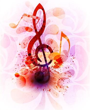 notes de musique: Musique de fond R�sum� Illustration