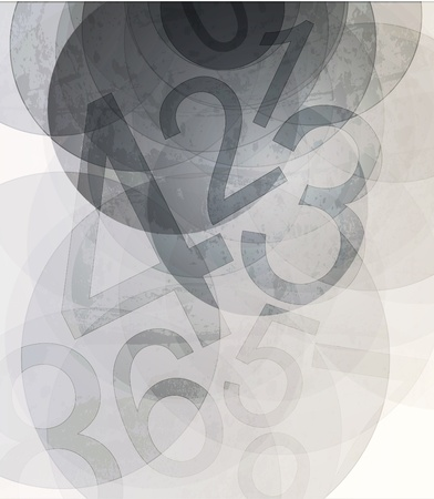 Compositions of colored number  abstract background Vector