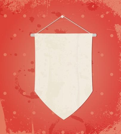 flag on retro background Vector
