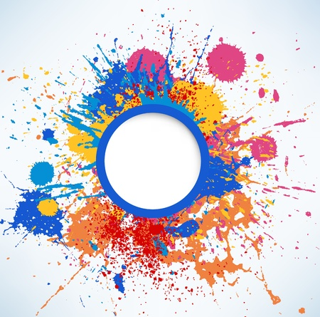 rainbow colours: Ink Splash