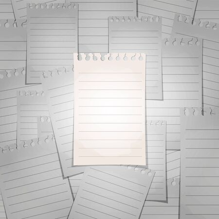 ayırma: Spiral lined notepad sheet. The concept of separation from the crowd. Çizim