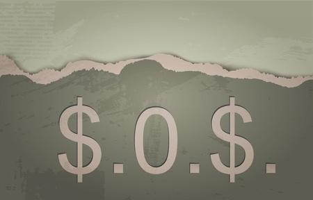 위급 신호. 달러의 개념