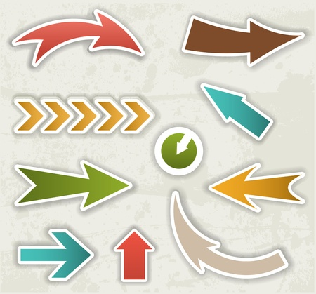 3 point perspective: color vector arrows