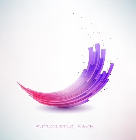 swirl: futuristic wave sign Illustration