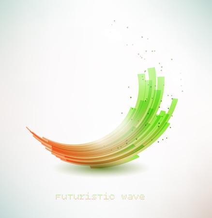 futuristic wave sign Stock Vector - 13625225