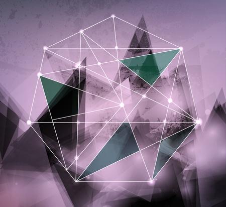 line artwork: Abstract background for design Illustration