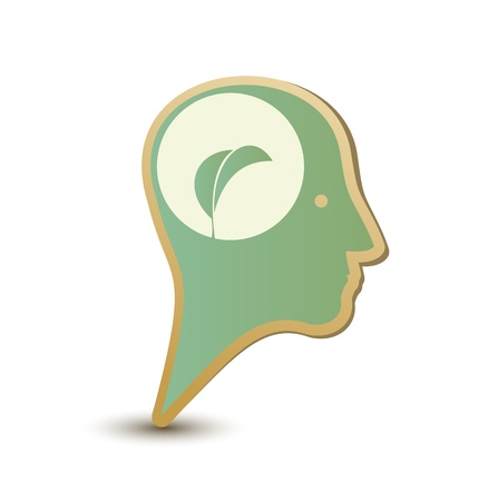 Eco man  Label sticker Stock Vector - 13628946