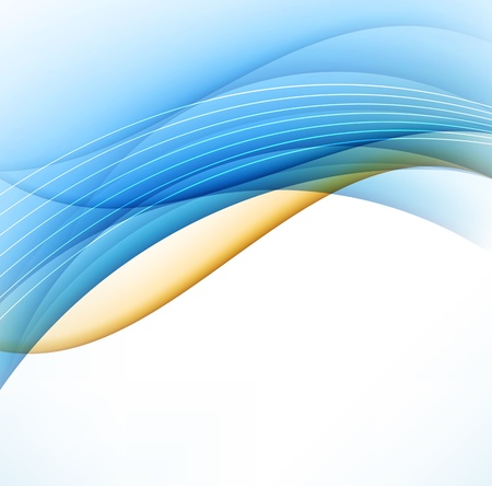 orange swirl: Abstract Line Background Illustration