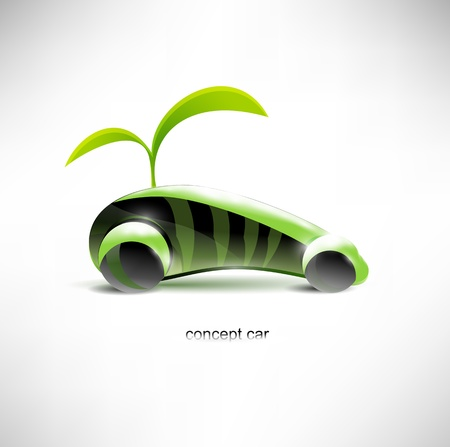 hidrógeno: Concepto de coche Eco