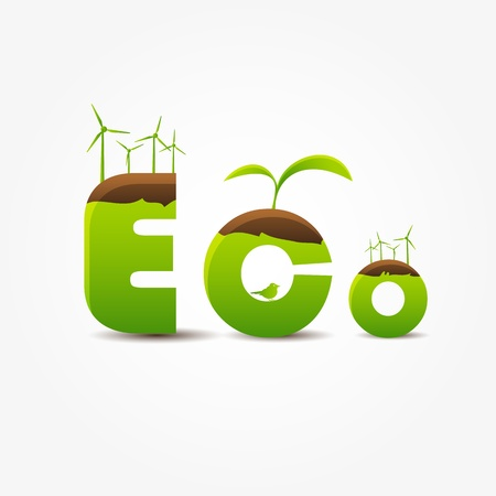 ECO concept Stock Vector - 13966435