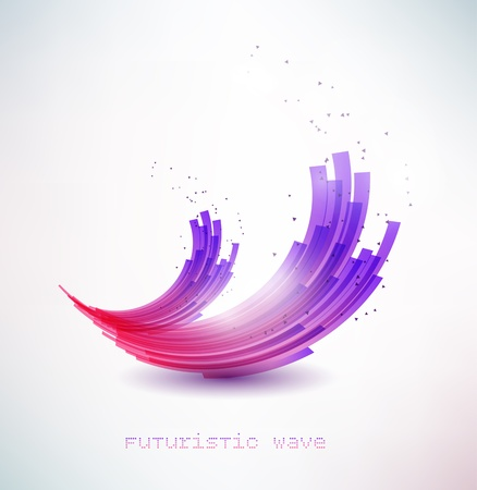 futuristic wave sign Stock Vector - 13966440