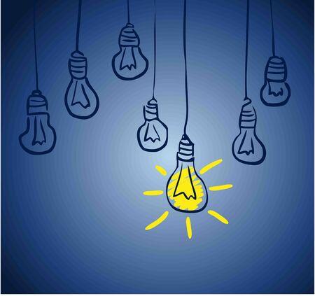 concept: Innovative lamp   idea concept