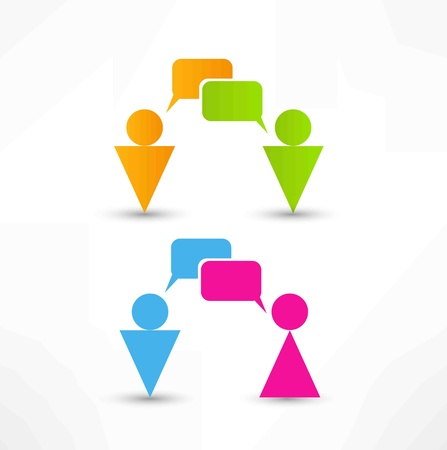 talking people icon Stock Vector - 13983150