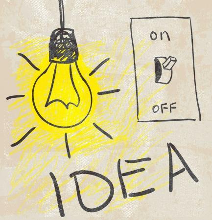 Innovative lamp   idea concept