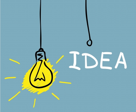 creative communication: concept bulb drawing