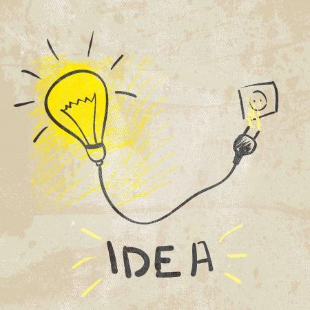혁신적인 램프 아이디어 개념