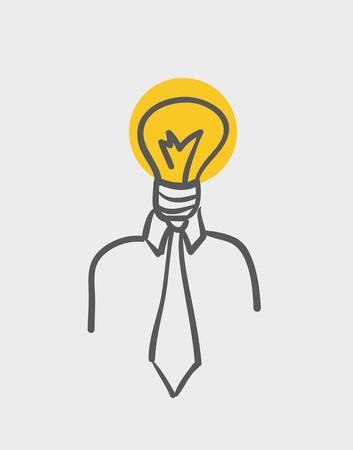 yellow bulb:  light bulb men
