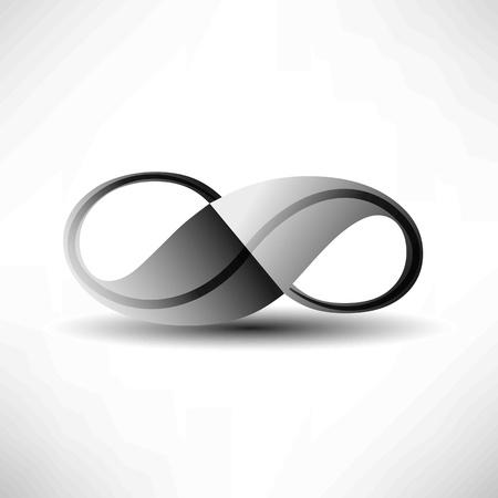 infinito simbolo: Argento Infinity Vettoriali