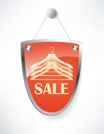 The shield, sale sign. Stock Illustratie