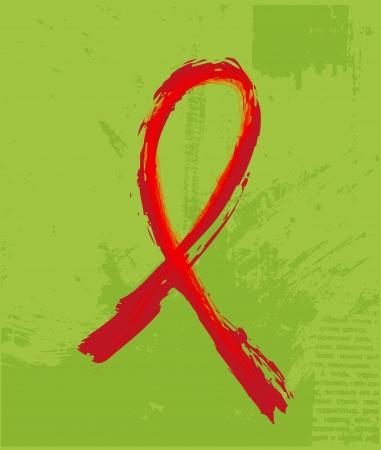 vih sida: Ayuda de la cinta roja en el fondo del grunge