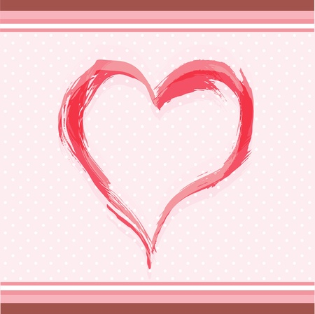 Abstract watercolor heart Stock Vector - 14032612