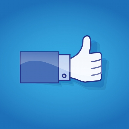 tweet: Thumb Up  Social media and network concept  Illustration